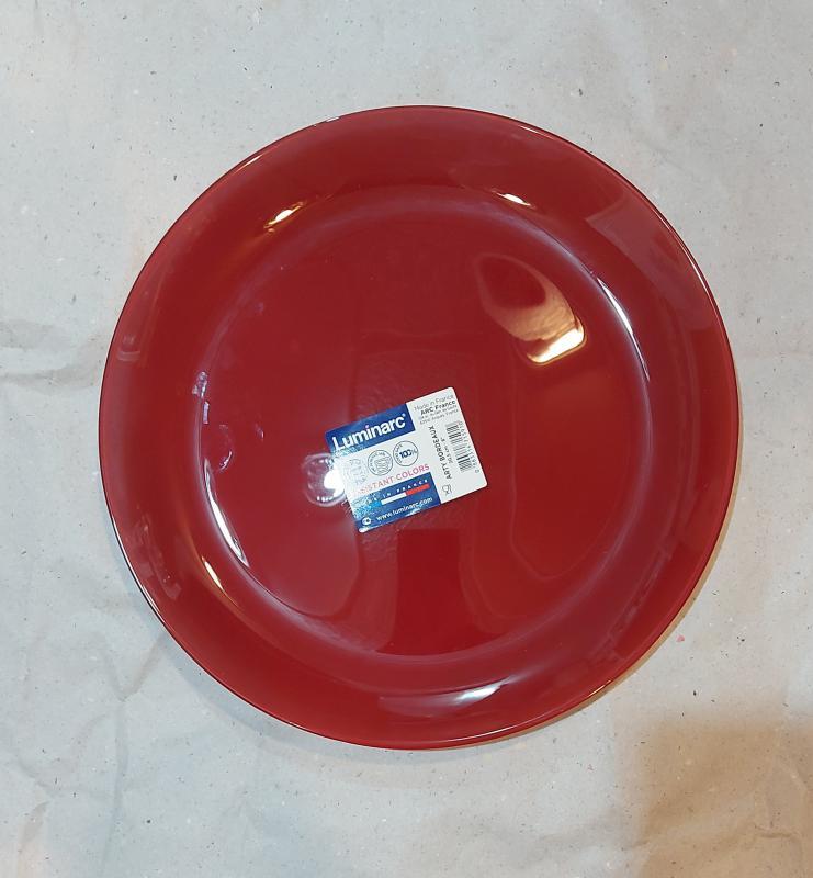 Luminarc Arty desszert tányér 20,5 cm, Bordeaux (bordó), P1002