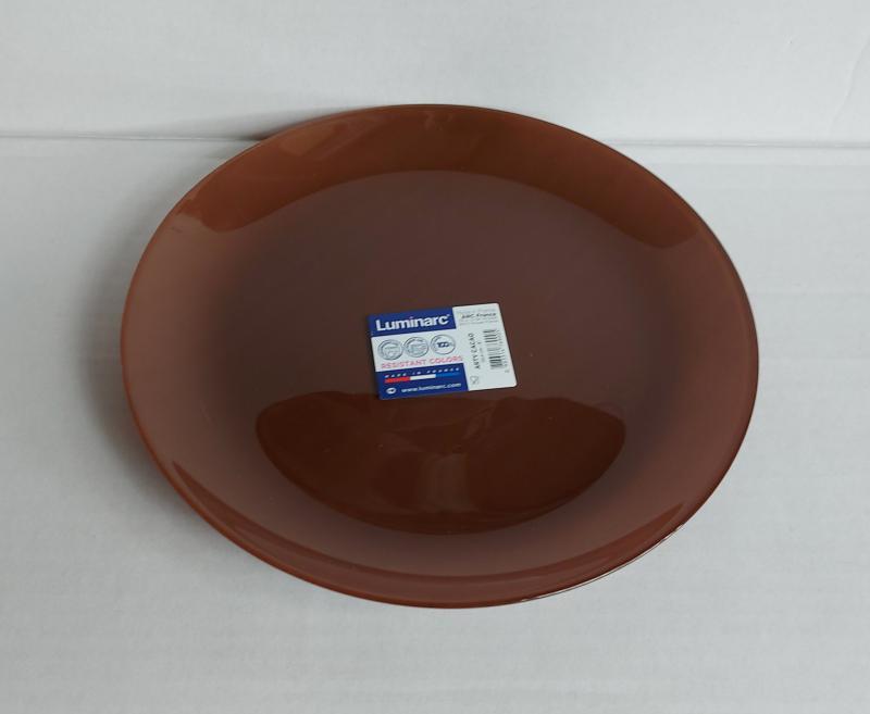 Luminarc Arty desszert tányér 20,5 cm, Cacao (barna), P6151