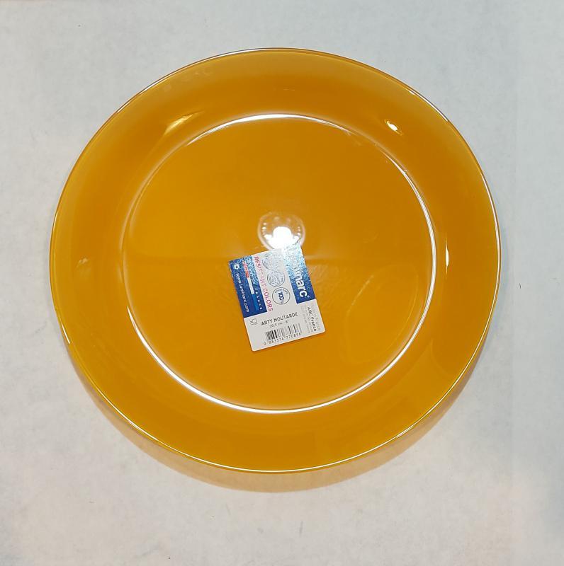 Luminarc Arty desszert tányér 20,5 cm, Moutarde (mustársárga), P6339