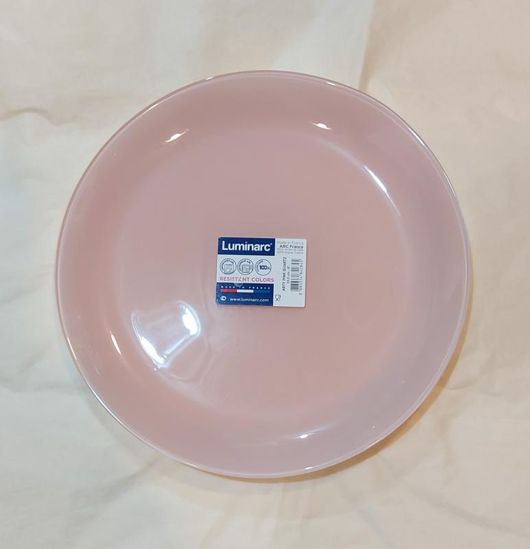 Luminarc Arty desszert tányér 20,5 cm, Pink Quartz (rózsaszín), Q3129