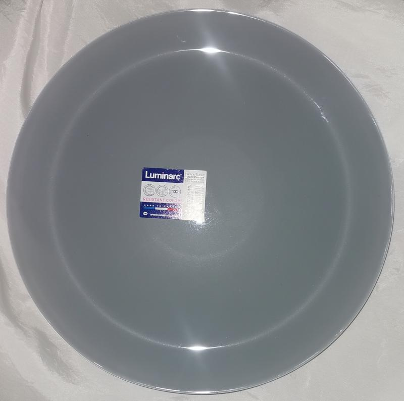 Luminarc Arty lapos tányér 26 cm, Brume (szürke), N4142