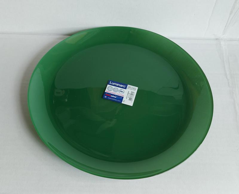Luminarc Arty lapos tányér 26 cm, Forest (zöld), Q2952