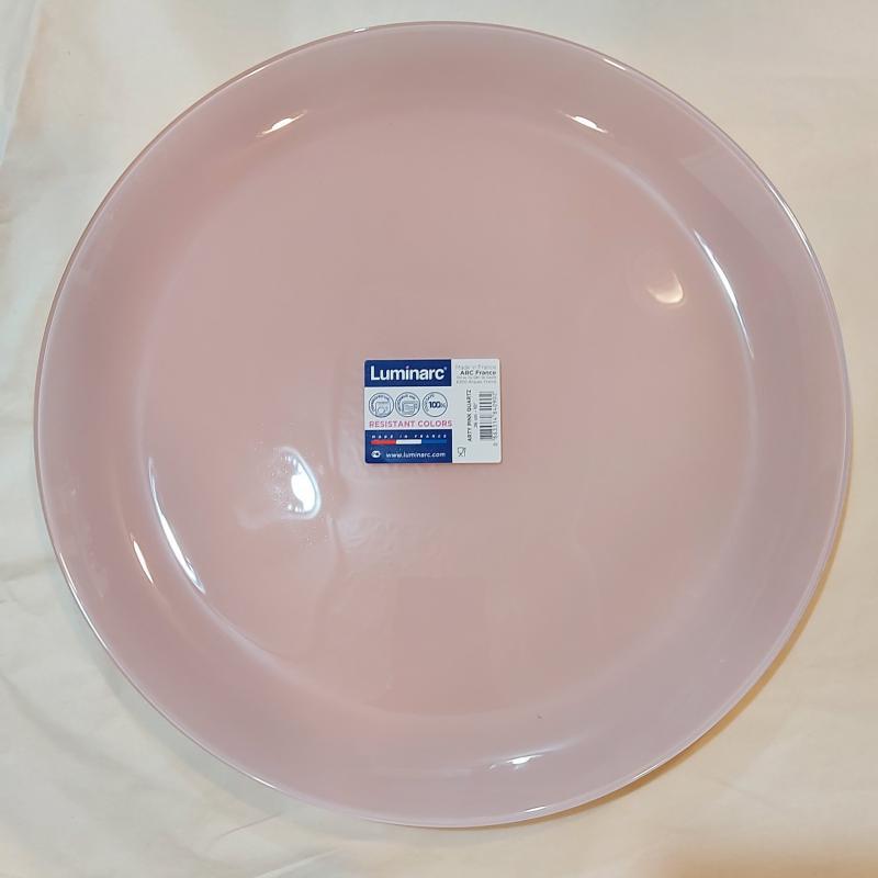 Luminarc Arty lapos tányér 26 cm, Pink Quartz (rózsaszín), Q2944