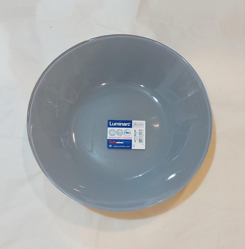 Luminarc Arty mély tányér 20 cm, Brume (szürke), N4150