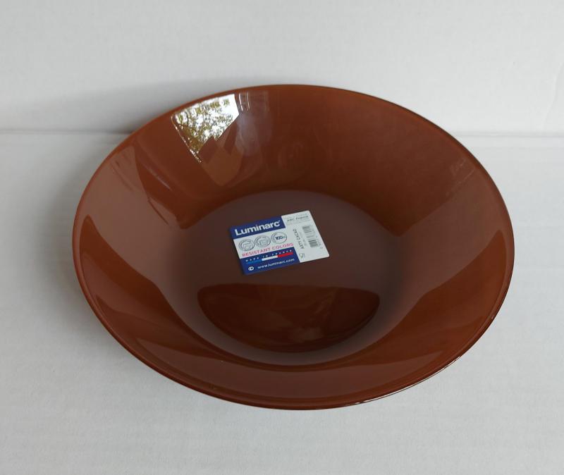 Luminarc Arty mély tányér 20 cm, Cacao (barna), P6152