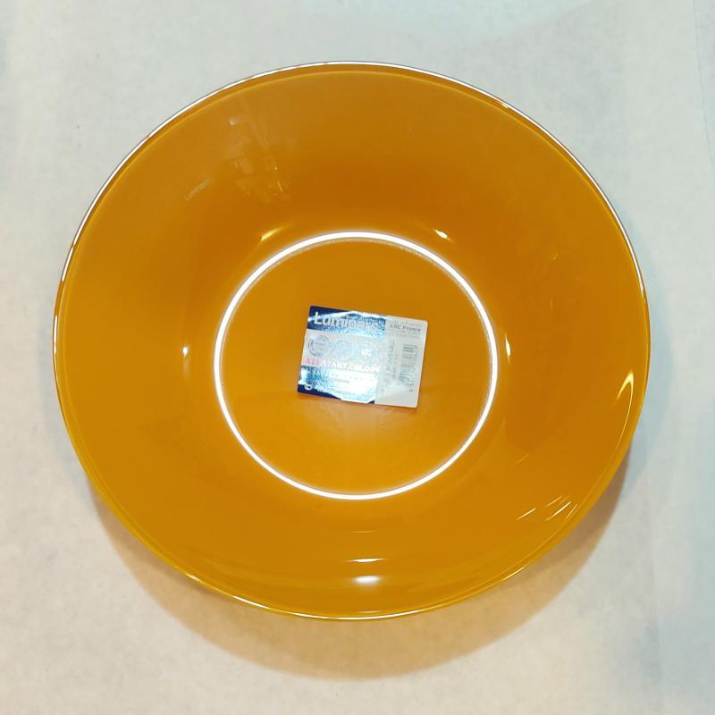 Luminarc Arty mély tányér 20 cm, Moutarde (mustársárga), P6324
