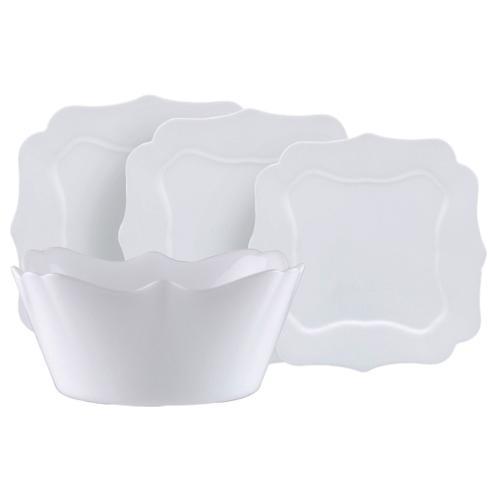 Luminarc Authentic fehér étkészlet, 19 részes , 502501