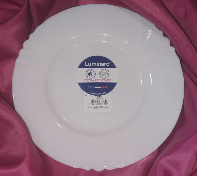 Luminarc Cadix lapos tányér 25cm, 500429