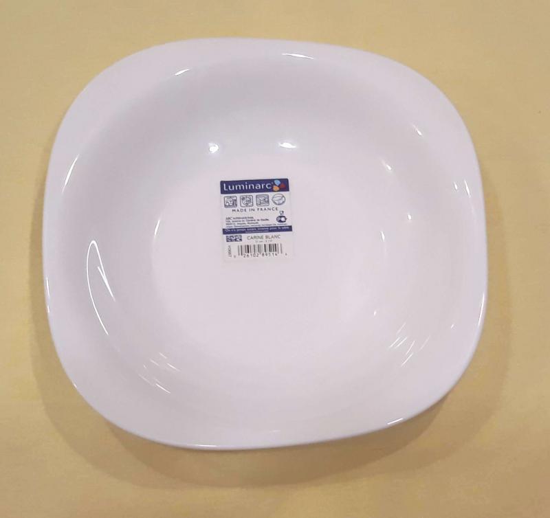 LUMINARC CARINE fehér mély tányér 21 cm, 1db