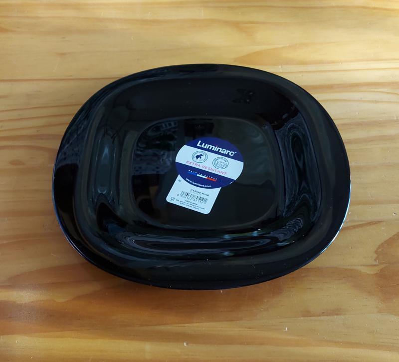 LUMINARC CARINE fekete lapos tányér 26,5 cm, 1db