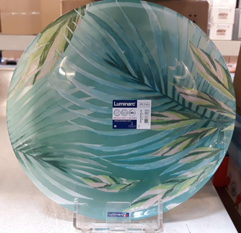 Luminarc CRAZIFOLIA lapos tányér, 26 cm, üveg, 1db
