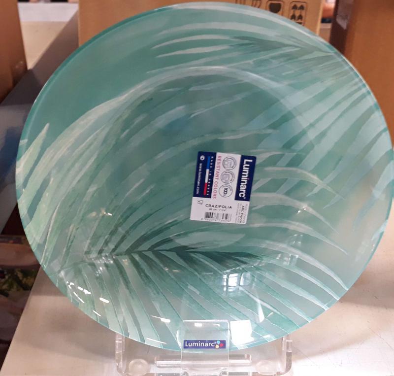 Luminarc CRAZIFOLIA mély tányér, 20 cm, üveg, 1db