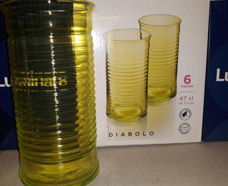 Luminarc Diabolo Citron pohár (sárga szín), 47 cl, 1db, 502802citron