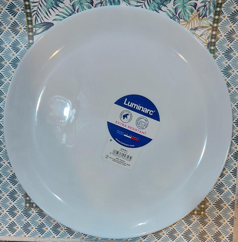 Luminarc DIWALI FEHÉR lapos tányér 27cm, üveg, 1db