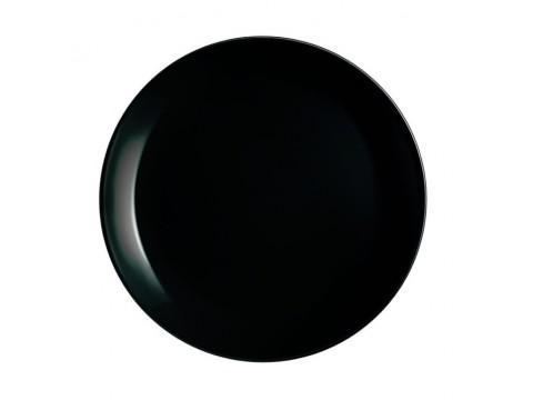 Luminarc DIWALI FEKETE üveg lapos tányér 27 cm, 1 db