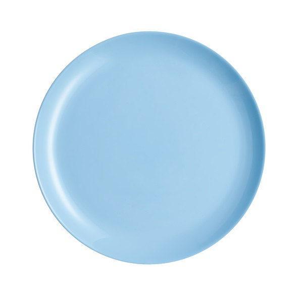 Luminarc DIWALI LIGHT BLUE (v.kék) lapos üveg tányér 27 cm, 1 db