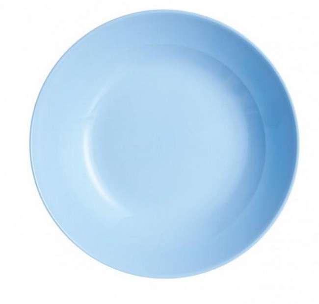 Luminarc DIWALI LIGHT BLUE (v.kék) üveg mélytányér, 20 cm, 1 db