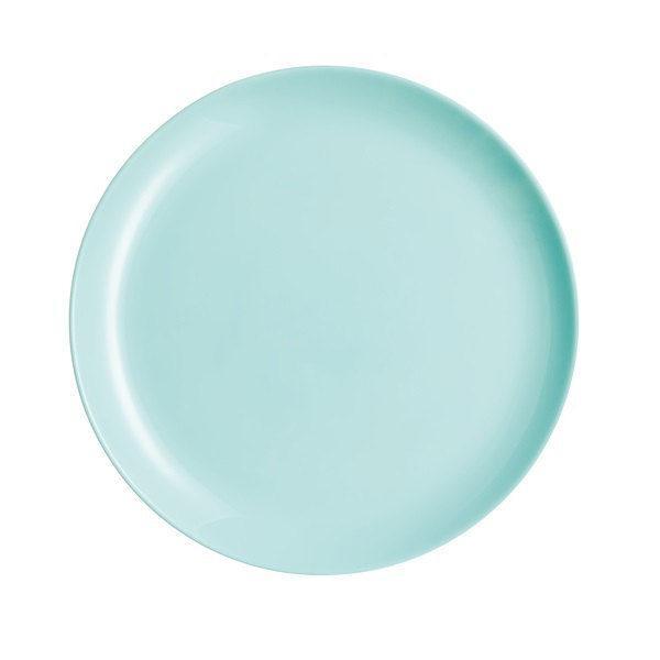 Luminarc DIWALI LIGHT TURQUOISE (v.türkíz) lapos tányér 27 cm, üveg, 1 db
