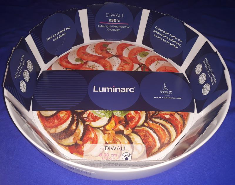 Luminarc DIWALI sütőbe tehető kerek, mély tál, 30 cm, 500883