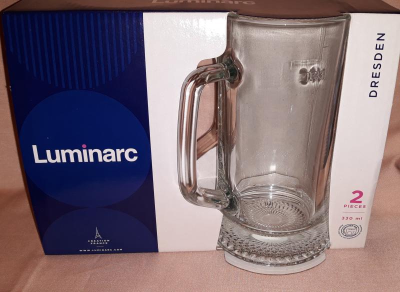 LUMINARC DRESDEN söröskorsó, mértékjeles, 33 cl, 2 db, 510003