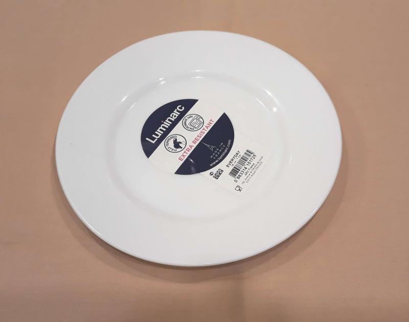 LUMINARC EVERY DAY desszert tányér, 19 cm, fehér, üveg, kerek, 501566