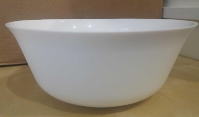 LUMINARC Every Day salátás tál, fehér, 24 cm, üveg, kerek, 501632