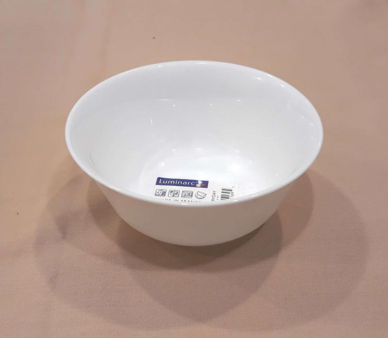 LUMINARC EVERY DAY salátás tálka, fehér, 12 cm, üveg, kerek, 501622