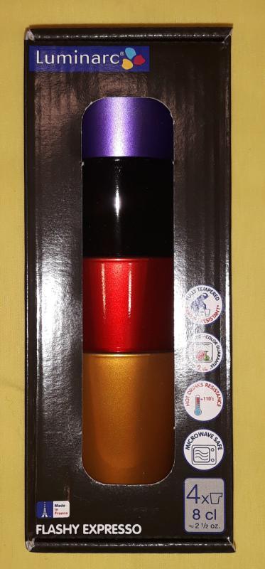 LUMINARC FLASHY EXPRESSO mokkás készlet, 8 cl, 4 db,  500914