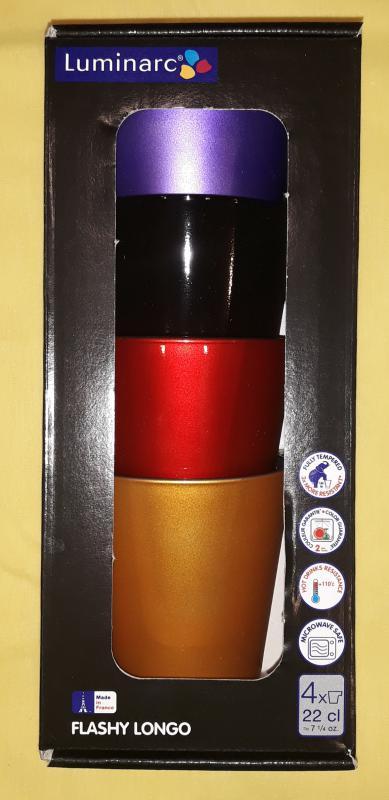 Luminarc Flashy Longo csésze, 22 cl, 4 db, 500915
