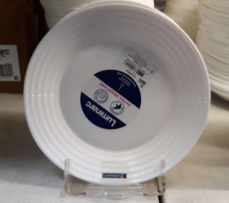 Luminarc Harena fehér desszert tányér, 19cm, üveg, 1db