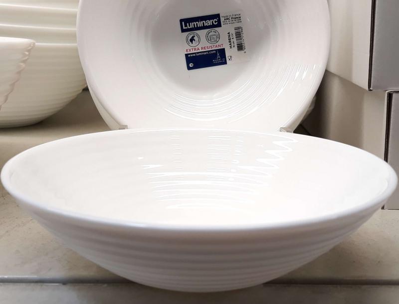 Luminarc Harena fehér salátás tálka 16 cm, üveg, 1db