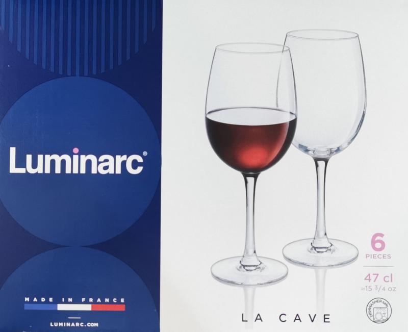 LUMINARC LA CAVE boros kehely, 48 cl, 6 db, 500781