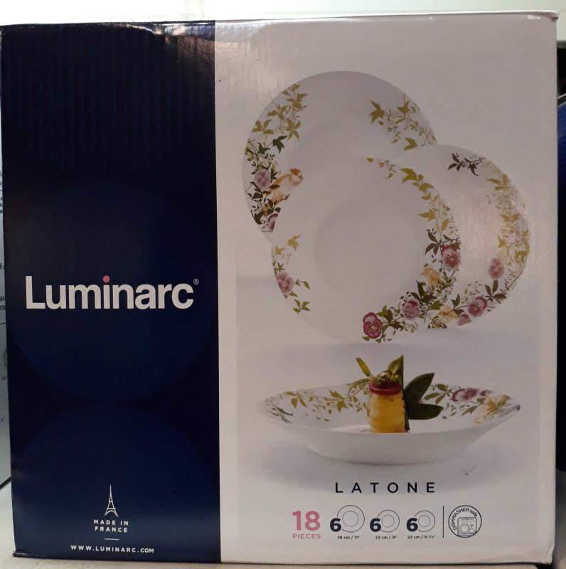 Luminarc Latone 18 részes étkészlet, 502165, luminarclatone18