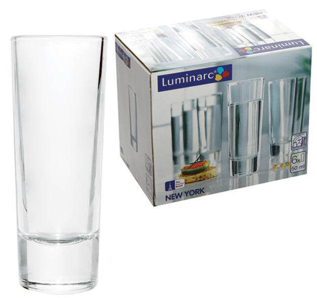 LUMINARC NEW YORK shot pohár, 5 cl, 6 db, 510046