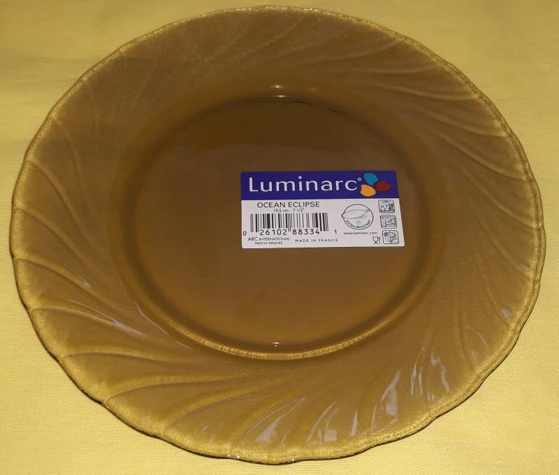 Luminarc Ocean Eclipse füstszínű desszertes tányér, 19,5 cm, 1 db