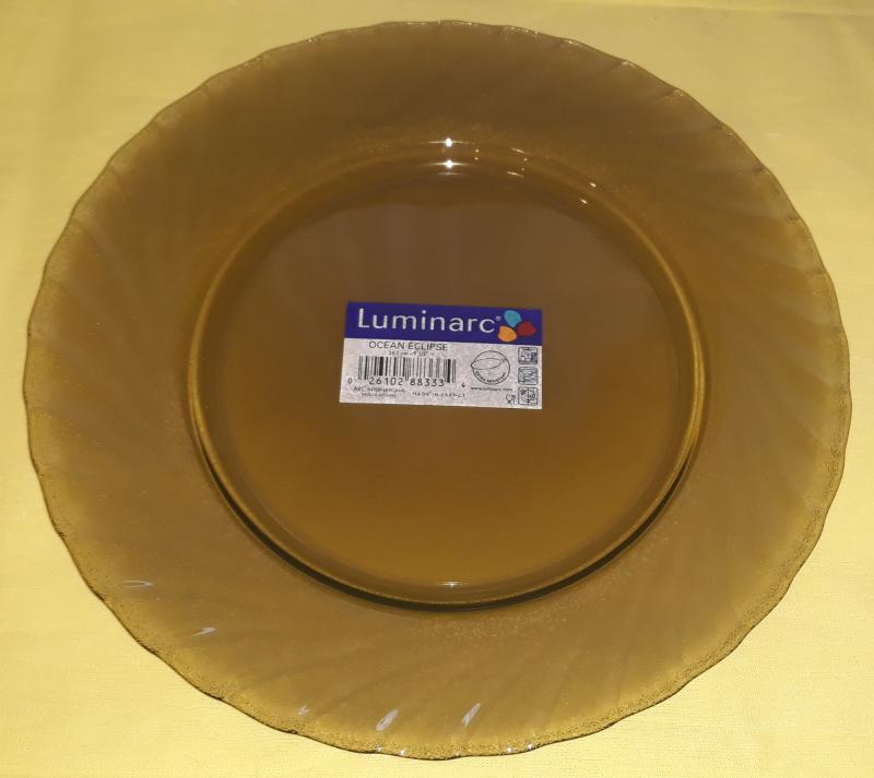 Luminarc Ocean Eclipse füstszínű lapos tányér 24,5 cm, 1 db