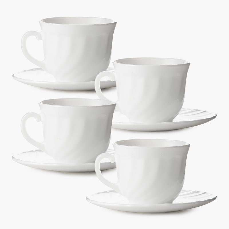 Luminarc Opál teás készlet, 4 személyes, 28 cl, 500185