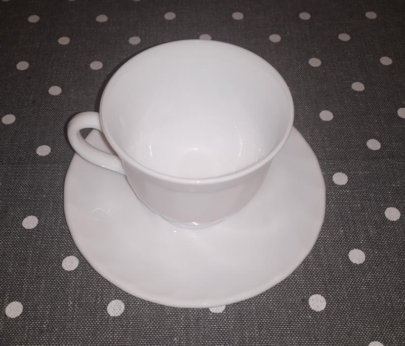 Luminarc Opal teás készlet, 6 db csésze+alj, fehér, 22 cl, 500014