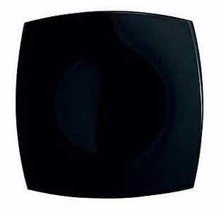 LUMINARC QUADRATO fekete tányér, lapos, 27 cm, 502112