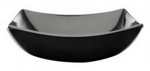 LUMINARC QUADRATO fekete tányér, mély, 20 cm, 502994