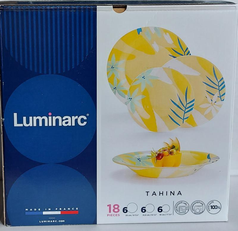 Luminarc Tahina étkészlet, 18 részes, üveg
