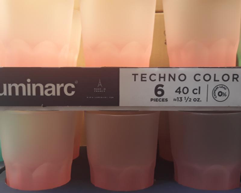 Luminarc Techno Colors Corail üdítős pohár, (korall szín), 40 cl, 500217