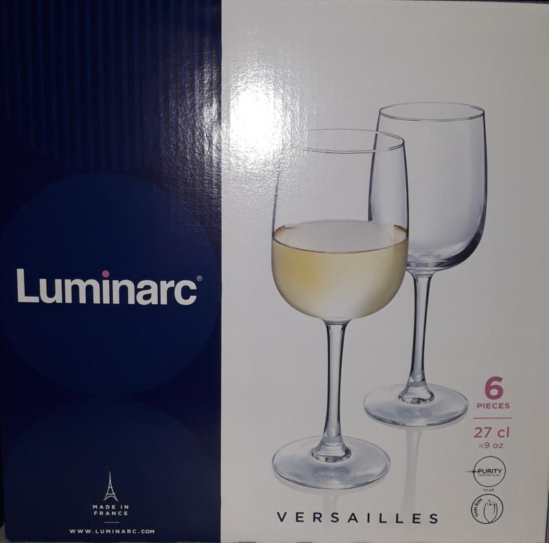 Luminarc Versailles talpas boros pohár, 27 cl, 6 db, 500006
