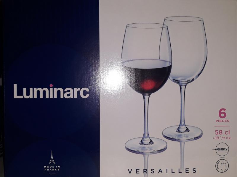 Luminarc Versailles talpas boros pohár, 58 cl, 6 db, 502484
