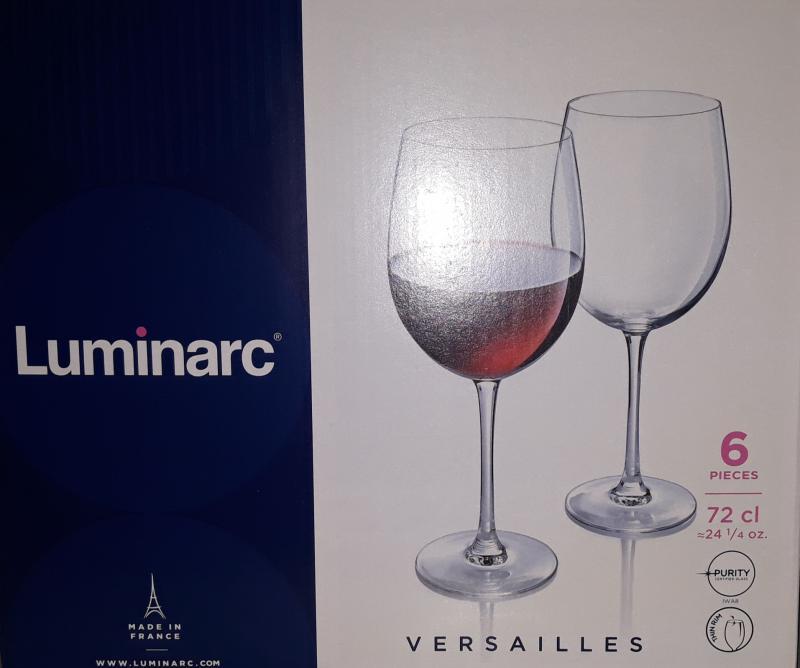 Luminarc Versailles talpas boros pohár, 72 cl, 6 db, 502488