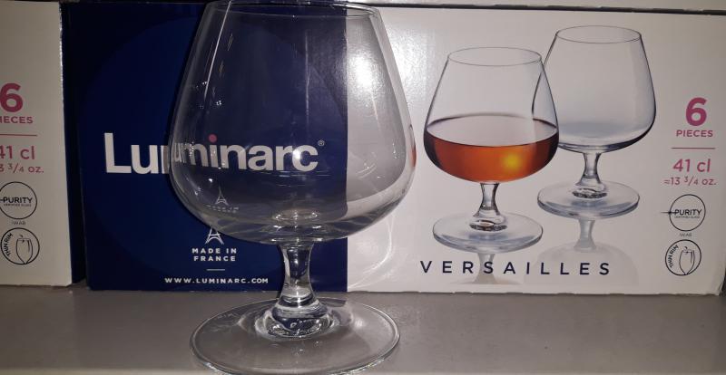 Luminarc Versailles talpas konyakos pohár, 41 cl, 6 db, 500303