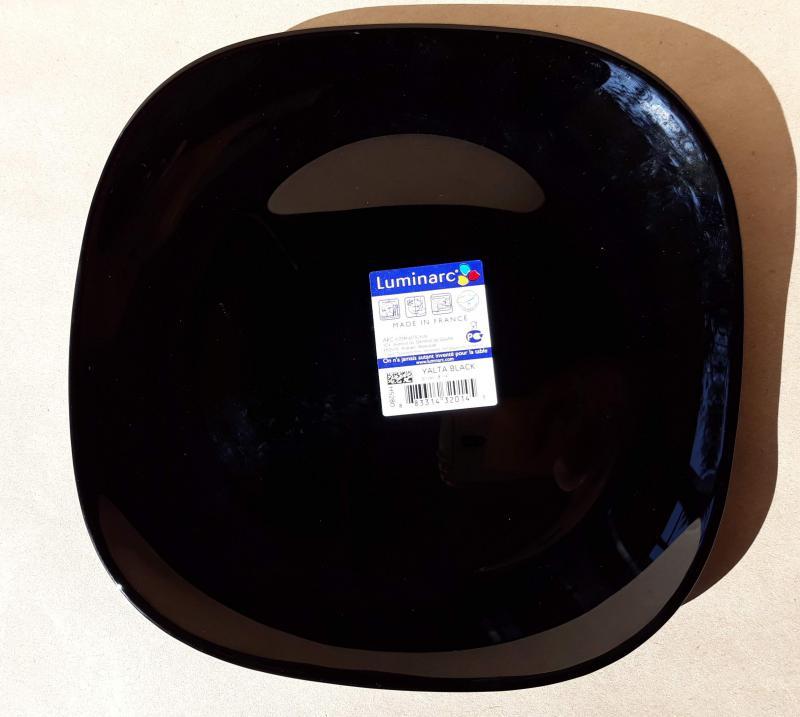 Luminarc Zenix Yalta Black desszert tányér, 20cm, 1db