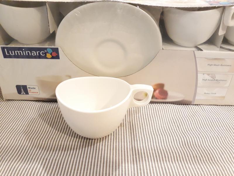 LUMINARC ZENIX YALTA BONE teás készlet, 22 cl, 6 db, 500863