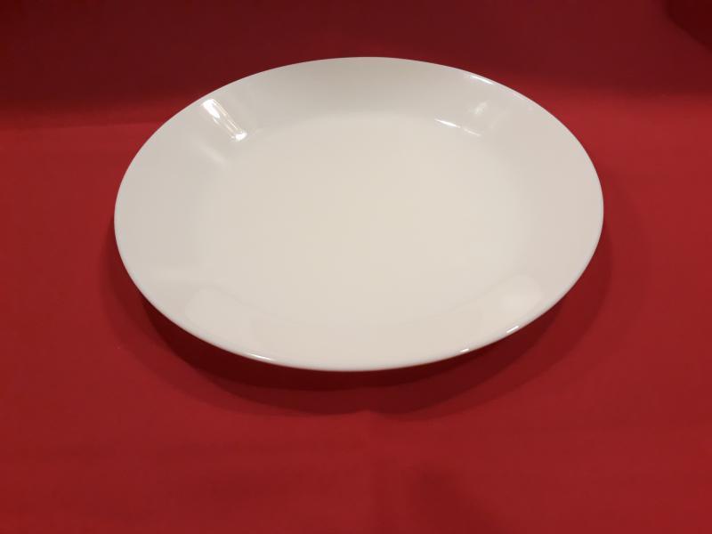 MAIA fehér üveg desszertes tányér, 19 cm