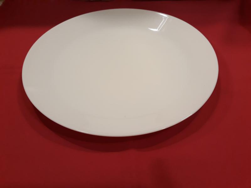 MAIA fehér üveg lapostányér, 24,8 cm